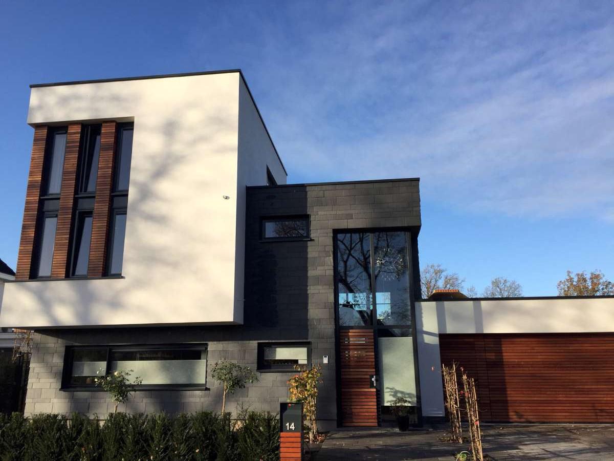 Moderne vrijstaande woning in hooglanderveen hab bouwen in stijl - Moderne uitbreiding huis ...