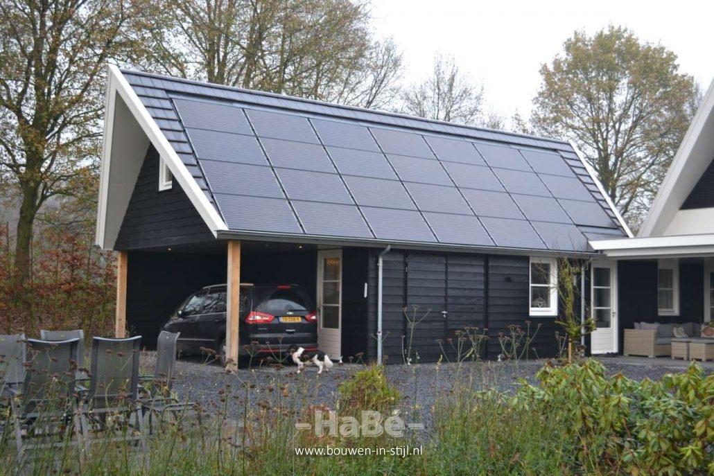 Woonhuis met veranda en bijgebouw in overberg hab bouwen in stijl - Veranda met dakpan ...