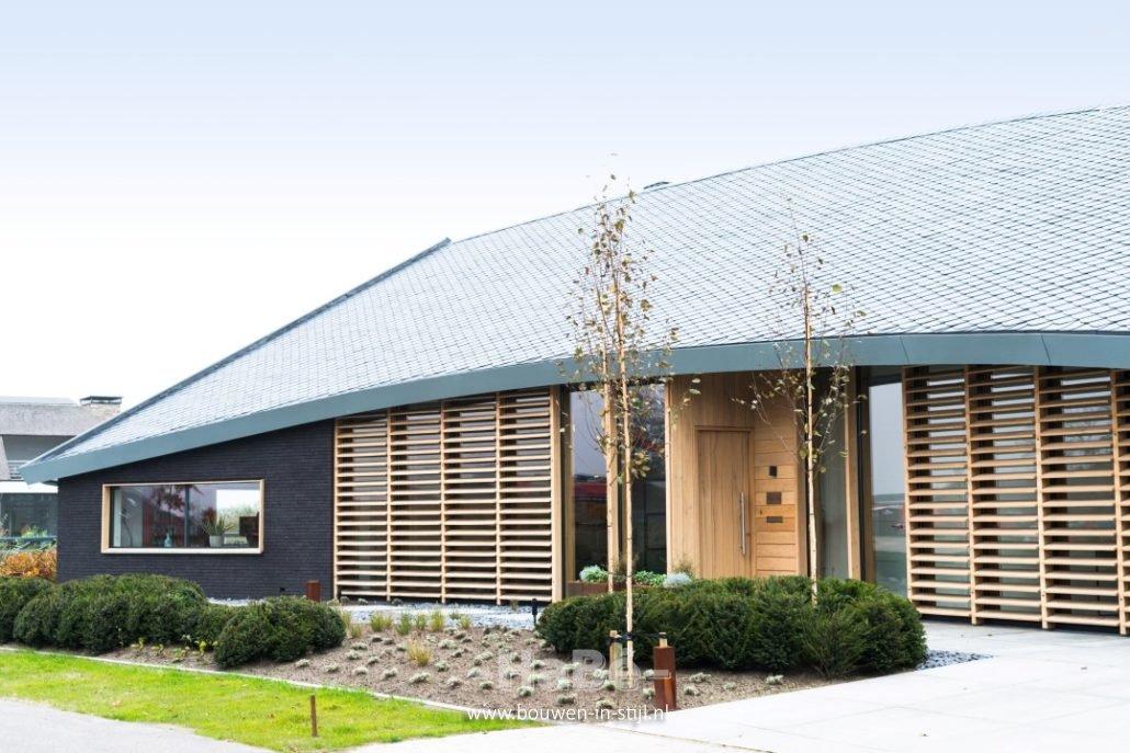 Realisatie moderne villa groene grens in veenendaal habé bouwen