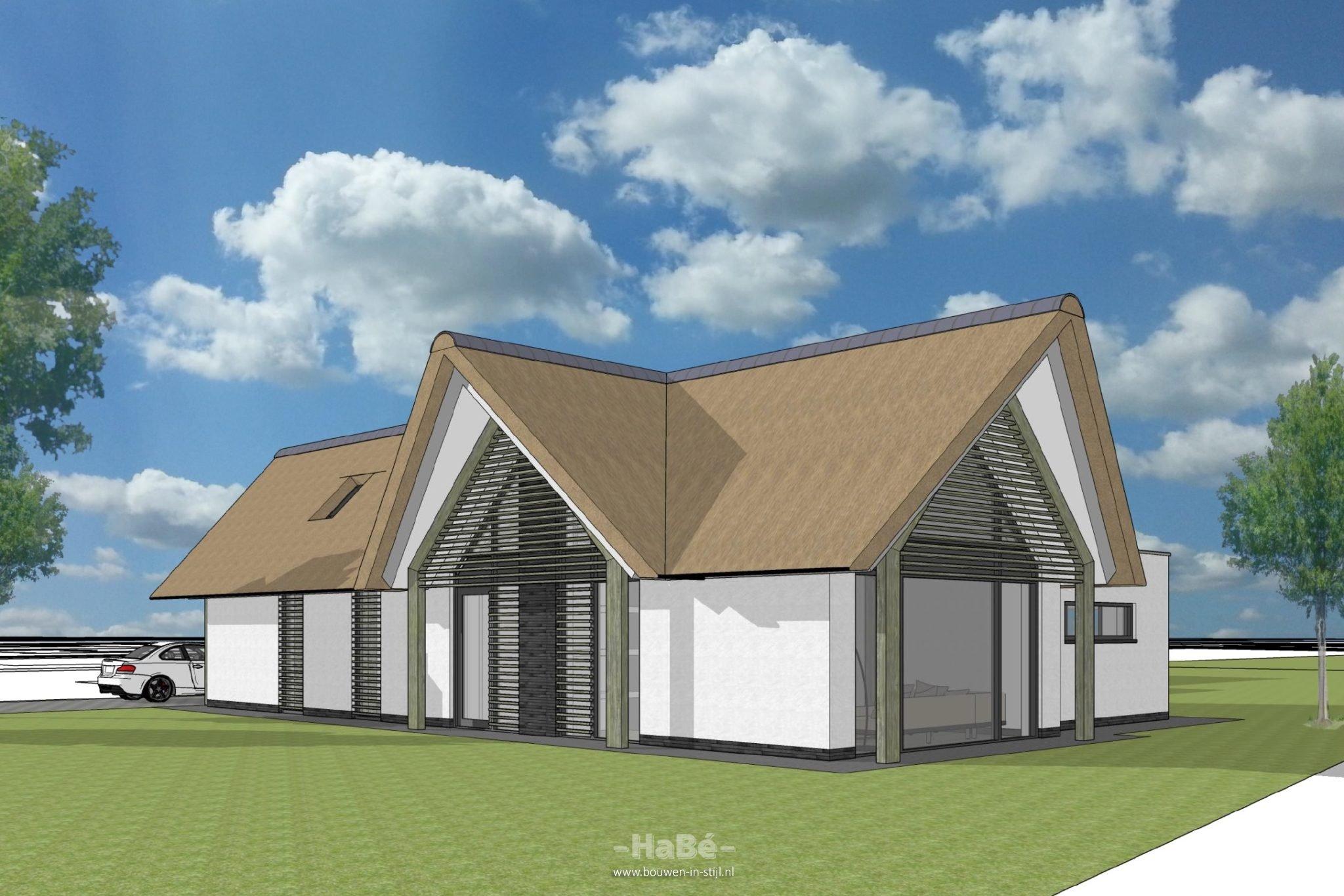 Nieuwbouw vrijstaande woning met rieten kap te veenendaal for Bouwkavels gelderland vrijstaand