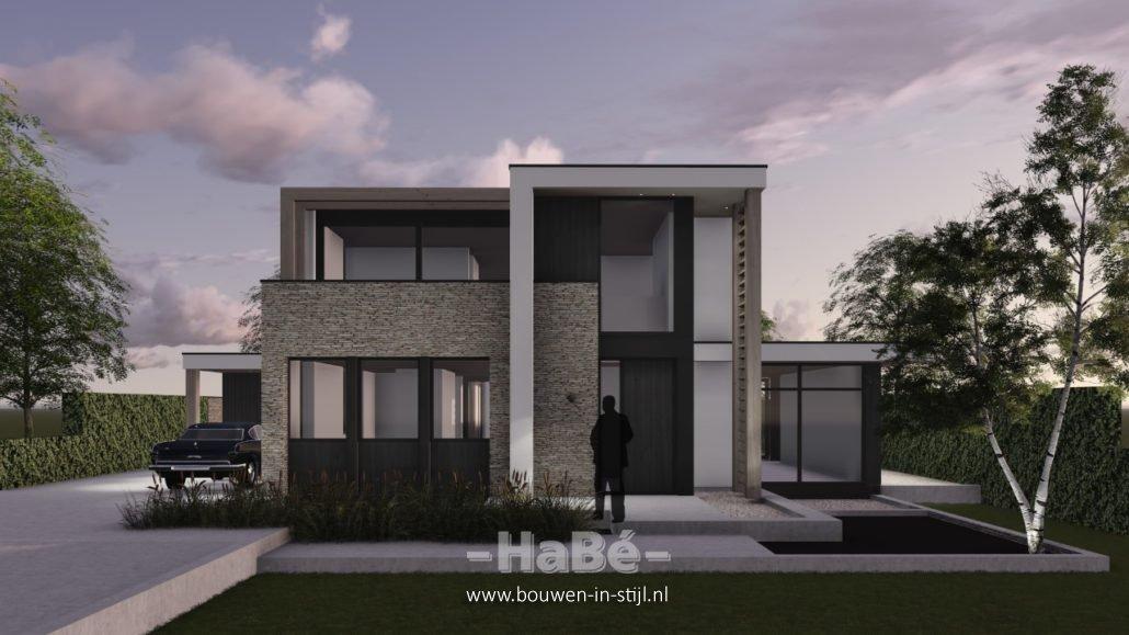 Bouw van een moderne villa te ede hab bouwen in stijl for Moderne bouw